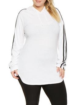 3320a42f8f917 Plus Size Varsity Stripe Tunic Top - 3917033872116
