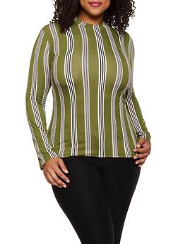 Plus Size Striped Top | 3917062702995 - 3917062702995