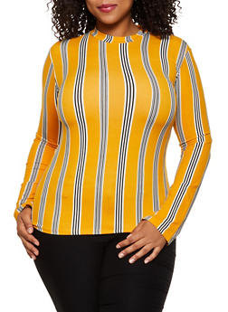 Plus Size Striped Top | 3917062702995 - 3917062702995