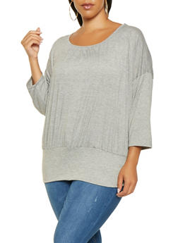 Plus Size Dolman Sleeve Top - 3917074284008