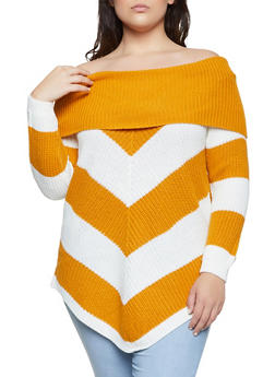 Plus Size Lace Up Back Off the Shoulder Sweater - 3920015050027