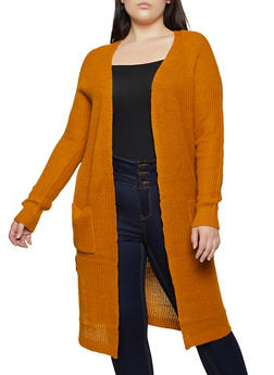 Plus Size Braided Side Duster - 3920015051367