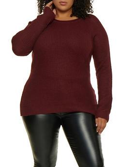 Plus Size Waffle Knit Sweater | 3920054266907 - 3920054266907