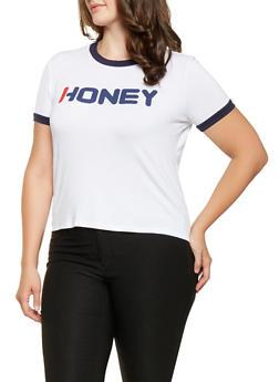 Plus Size Honey Graphic Tee - 3924061350713