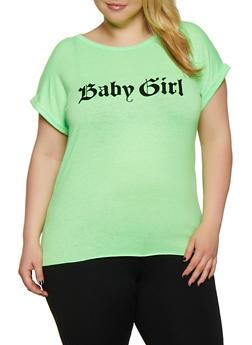 Plus Size Baby Girl Tee - 3924061354299