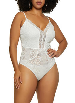 Plus Size Lace Bodysuit | 3924069391478 - 3924069391478