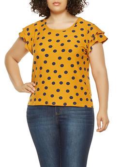 Plus Size Polka Dot Top - 3924069395185