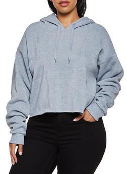 Plus Size Raw Hem Pullover Sweatshirt - 3924072290010
