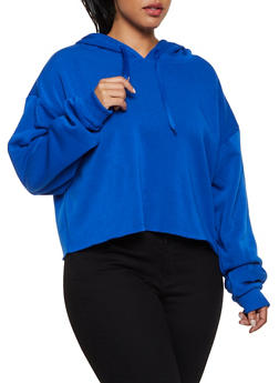 Plus Size Raw Hem Pullover Sweatshirt - 3924072290010
