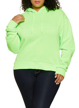 Plus Size Hooded Fleece Sweatshirt - 3924072290282