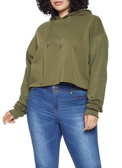 Plus Size Hooded Sweatshirt - 3924072291001