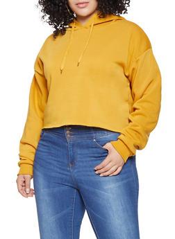 Plus Size Hooded Sweatshirt - 3924072291001