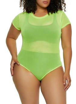 Plus Size Mesh Bodysuit | 3925063400690 - 3925063400690