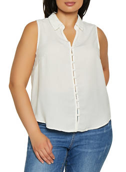 Womens White Polyester Shirts