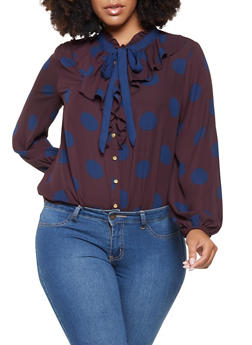 Plus Size Ruffled Blouse - 3925069395279
