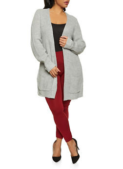 Plus Size Fixed Cuff Cardigan - 3926015995831