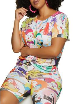 Plus Size Afro Girl Tee - 3927061359879