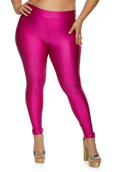 Plus Size Spandex Solid Leggings - 3927069397638