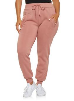 Plus Size Fleece Lined Sweatpants - 3927072290176