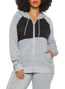 Plus Size Love Graphic Hooded Sweatshirt - 3927072290249