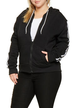 Plus Size Side Tape Detail Sweatshirt - 3927072290251