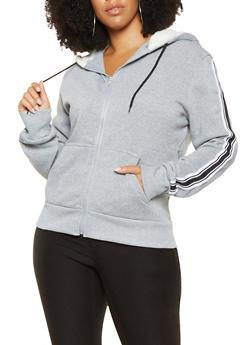 Plus Size Side Tape Detail Sweatshirt - 3927072290251