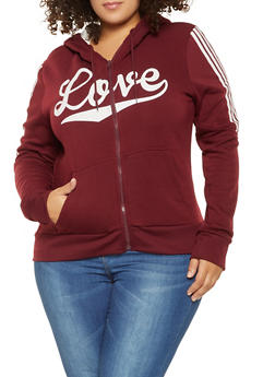 Plus Size Love Graphic Sweatshirt - 3927072290253