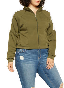 Plus Size Color Block Sweatshirt - 3927072290950