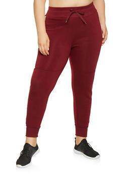Plus Size Color Blocked Sweatpants - 3927072290951