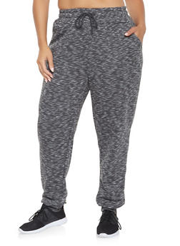 Plus Size Marled Sweatpants - 3928072290068