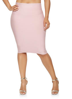 Plus Size Bandage Pencil Skirt - 3929068190725