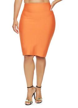 Plus Size Bandage Pencil Skirt - 3929068190725