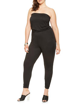 Plus Size Strapless Jumpsuit - 3930015995016