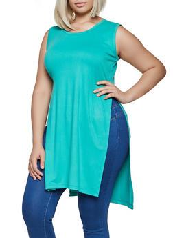 Plus Size Soft Knit Maxi Top - 3930062702620