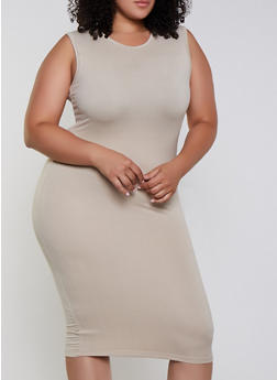 Plus Size Solid Bodycon Dress | 3930062705314 - 3930062705314