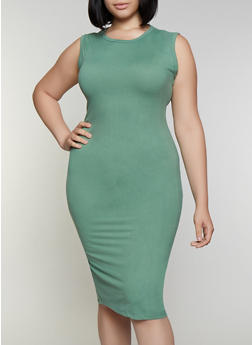 Plus Size Solid Bodycon Dress | 3930062705314 - 3930062705314