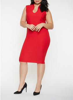 Plus Size Sheath Dress - 3930068514204