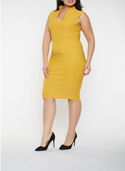 Plus Size Sheath Dress - 3930068514204