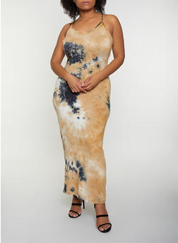 Plus Size Tie Dye Maxi Dress | 3930068514425 - 3930068514425