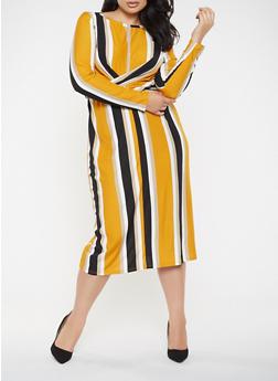Plus Size Twisted Tie Back Dress - 3930069390718