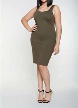 Plus Size Ponte Tank Dress - 3930069393991