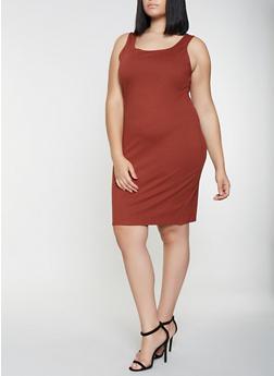 Plus Size Ponte Tank Dress - 3930069393991