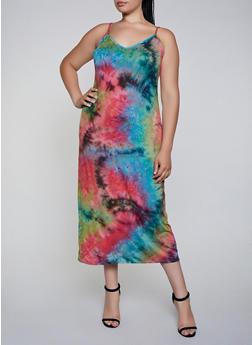 Plus Size Soft Knit Tie Dye Maxi Dress | 3930072244523 - 3930072244523