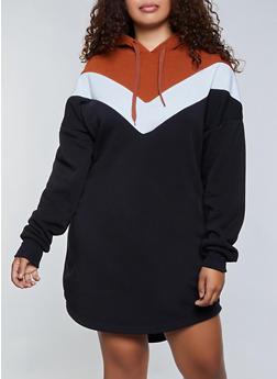 Plus Size Sweatshirt Dresses | Rainbow