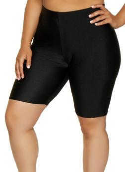 Plus Size Bike Shorts - 3931062703263