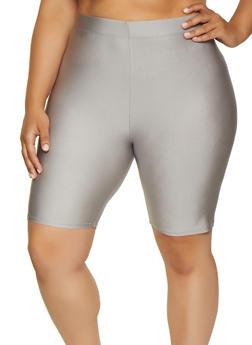 Plus Size Bike Shorts - 3931062703263