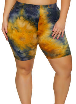Plus Size Tie Dye Bike Shorts | 3931063401100 - 3931063401100