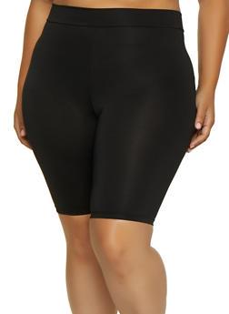 Plus Size Spandex Bike Shorts | 3931068511776 - 3931068511776