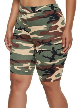 Plus Size Camo Bike Shorts | 3931068516771 - 3931068516771
