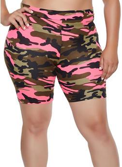 Plus Size Camo Bike Shorts | 3931068516771 - 3931068516771
